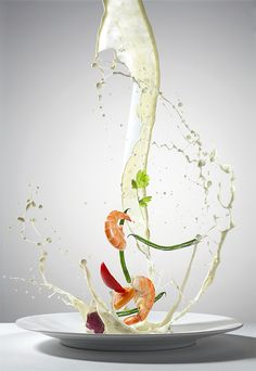 Flying Food by Piotr Gregorczyk, via Behance