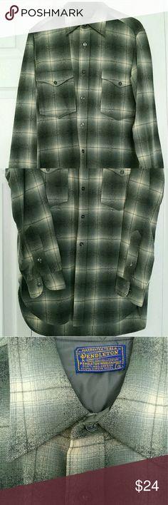 Men's Pendleton wool shirt 100% Pure Virgin wool. Pendleton Shirts Casual Button Down Shirts