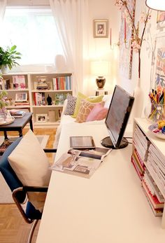 like this for office/craft room; from Cosmania via inspiration for decoration - this looks cozy.