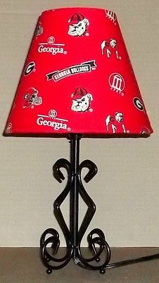 Georgia Bulldogs  Lamp Shade and Lamp Scroll