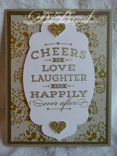 www.stampingmoon.com Cheers to Love Wedding Card Stampin' Up! Diana Ball-Seitz
