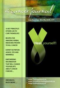 The Cancer Journal Heal Yourself by Holistic Nutritionist and Researcher lisa Robbins Photo