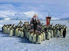 Patriarch Kirill and the flock in Antarctica
