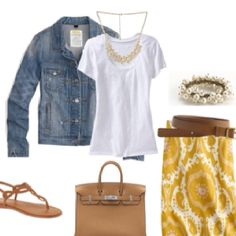 Love the idea of a conservative skirt with flats.  As always the pop of color mixed with  neutrals!