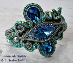 "Bransoletka sutasz (soutache) ""Capri"" w Galeria Bajka Soutache Jewelry na DaWanda.com"