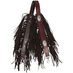 Kate Cate She Rocks fringed shoulder strap (26.160 RUB) ❤ liked on Polyvore featuring bags, handbags, shoulder bags, brown, brown fringe purse, fringe purse, shoulder strap handbags, studded fringe purse and suede fringe purse