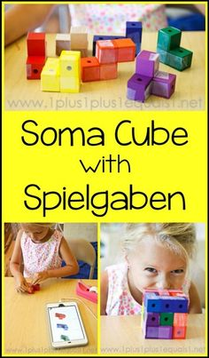 Soma Cube with Spielgaben ~ Awesome hands on learning activity