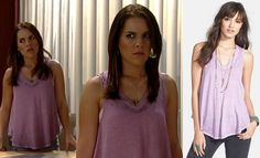 I'm a Soap Fan: Kiki Jerome's Purple Tank Top - General Hospital, Season 52, Episode 57, 06/19/14 #FreePeople #GH #GeneralHospital