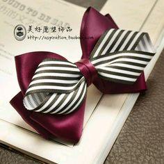 28 ideas hair accessories diy ribbon for 2020 Ribbon Hair Bows, Diy Hair Bows, Diy Bow, Diy Hair Flowers, Ribbon Art, Diy Ribbon, Ribbon Crafts, Diy Crafts, Hair Bow Tutorial