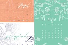 Cute DIY by Wedding Friends! Desktop Calendar