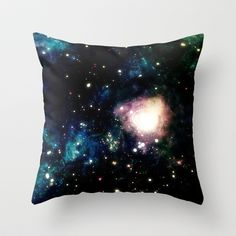 Galaxy Throw Pillow by wendygray - $20.00