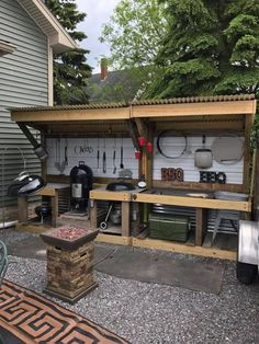 パ レ ッ ト diy, bbq table, backyard bbq, backyard kitchen, outdoor kitchen des Outdoor Grill Station, Outdoor Kitchen Grill, Outdoor Cooking Area, Bbq Kitchen, Backyard Kitchen, Outdoor Kitchen Design, Backyard Patio, Outdoor Kitchens, Simple Outdoor Kitchen