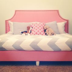 DIY upholstered box spring and headboard to make a daybed