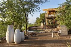 Singita Faru Faru's relaxed approach to luxury forms a golden thread throughout this easy-going lodge in the heart of the Serengeti. Outdoor Sofa, Outdoor Decor, Creature Comforts, Lodges, Living Spaces, Luxury, Heart, Places, Cabins