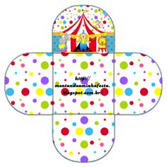 Nice Free Printable Boxes for your Sweet 16 Party that you just need to personalize, print, cut and fold. Here you have: French Fr. Printable Box, Free Printables, Vintage Circus Party, Clown Party, Tangram, Dots Free, First Birthday Party Themes, Carnival Themes, Sweet 16 Parties