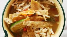 The thin vermicelli-like noodles called fideos add starch and body to this elemental Mexican tomato soup.