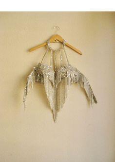 sequin star and fringe halter bra