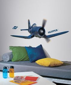 New Giant DISNEY PLANES SKIPPER WALL DECALS Airplanes Stickers Boys Room Decor in Home & Garden, Kids & Teens at Home, Bedroom, Playroom & Dorm Décor | eBay