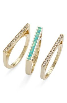 Kendra Scott 'Lucia' Stackable Rings (Set of 3) available at #Nordstrom