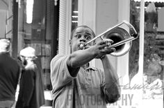 The Trumpeter in the street of New Orleans