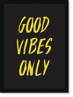 Quadro Poster Frases Good Vibes Only - Decor10