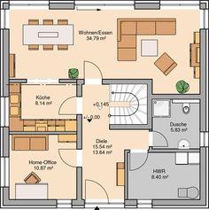 Massivhaus Kern-Haus Stadtvilla Centro Grundriss Erdgeschoss