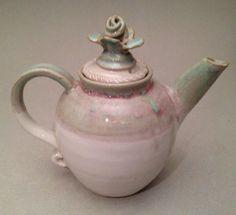 Fantasy Rose Blush Teapot by zBluePottery on Etsy