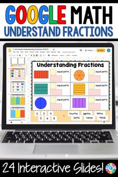 """LOVE THE VARIETY OF SLIDES!"" With this Grade Fraction Models digital resource for Slides, your students will practice identifying fraction parts and naming fractions within a whole and fractions within a group/set. 3rd Grade Fractions, Learning Fractions, Third Grade Math, Math Fractions, Teaching Math, Math Math, Math Games, Adding Fractions, Kid Games"