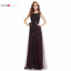 fd4fda2d917  Clearance Sale  Elegant Prom Dress Ever Pretty 2017 HE08753BK Women Elegant  Round Neck Plus Size Long Prom Dress Lace. Prom Party DressesCute ...