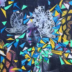 By @lilyluciole #lilyluciole #streetart #streetartist #urbanart #urbanartist #graffiti #graff #streetartparis #parisgraffiti #graffitiwall #wall #wallporn #wallpornart #streetarteverywhere #streetphoto #streetartandgraffiti #urbanwalls #graffart #spray #bombing #collage Quai de la Marne #paris