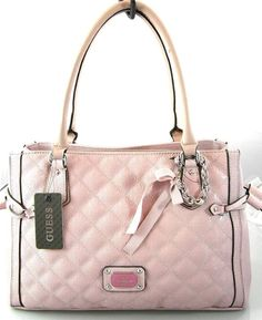 AUTHENTIC NEW NWT GUESS PRISTINE PINK TOTE BAG PURSE #guess #TotesShoppers