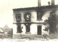 Burned school in Lidice.
