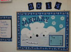 Polar bear bulletin board