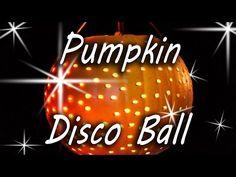 Pumpkin Disco Ball - Halloween Party - YouTube