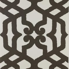 Alhambra Quasi Nero col. 001 by Dedar - Large-scale pattern of Moorish inspiration. Fire-retardant, it is straightforward to hang and easy to keep clean.