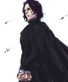 """severus-snape-my-eternal-prince: """" Artwork by クガバン. """""""
