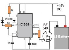 Electronic Circuit Projects: Battery Desulfator Circuit Explained