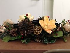 Birthday party center piece for a man designed by Suzanne at Michaels arts and crafts Whitehall Pa Michael Art, Men Design, Burlap, Christmas Wreaths, Centerpieces, Arts And Crafts, Designers, Holiday Decor, Spring