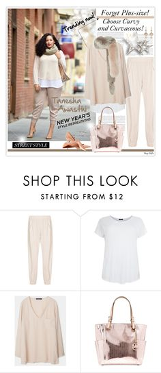 """""""Forget Plus-Size! New Trend is Curvy & Curvaceous!"""" by mcheffer ❤ liked on Polyvore featuring Zero + Maria Cornejo, Violeta by Mango, Michael Kors, Gianvito Rossi, Marni and NSR Nina Runsdorf"""