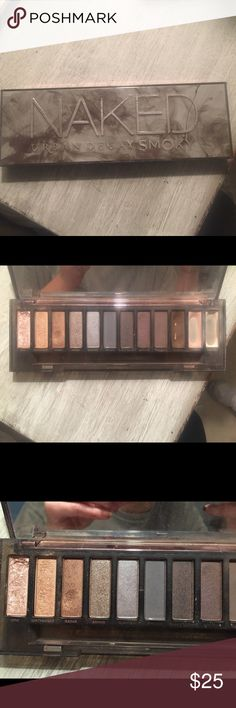 Urban Decay Naked Smoky Palette Only 3 colors have been used out of this Palette as you can see in the pictures so there is still 9 full colors out of this palette that have only been used to swatch colors Urban Decay Makeup Eyeshadow
