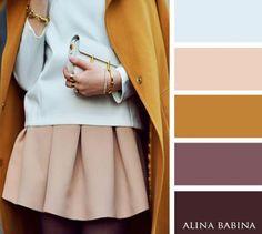 15 идеальных цветовых сочетаний в одежде для осени