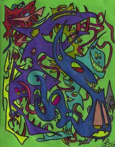 Colored Pencils, Original Artwork, Green, Prints, Colouring Pencils, Crayons