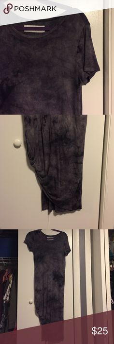 Gypsy Warrior tie dye dress Worn once, this dress is in great gently used condition. Only sign of wear is a small hole of the sleeve (pictured). Deep plum/purple tie dye. NO TRADES PacSun Dresses