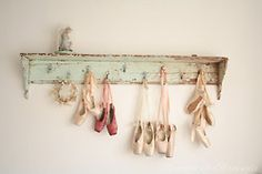 why didn't I ever think of this? I have so many pairs of pointe shoes!