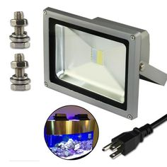 20W LED Aquarium Flood Light COOL White High Power Fish Tank Lighting Reef Plant