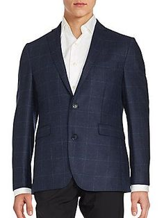 Saks Fifth Avenue Cashmere Windowpane Sportcoat