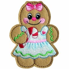 gingerbread3 - Christmas Gingerbread Machine Embroidery Design - $2.99 : Golden Needle Designs, Great machine embroidery designs
