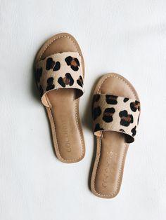 leopard print slide sandals || matisse cabana