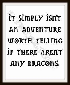 Dragon Adventure Typography Nursery Art | Geek-a-bye Baby