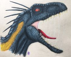 I recently saw Jurassic World: Fallen Kingdom and thought it was really good! The effects were so amazing. Here's the indoraptor in some colored pencil! He has some pretty interesting traits/abilities in the movie…
